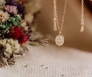 Náhrdelníky - Zlatá retiazka s Madonou /gold filled - 10754149_