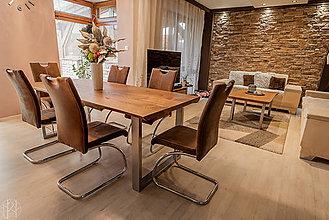 Nábytok - Dubový jedálenský stôl - 10752630_