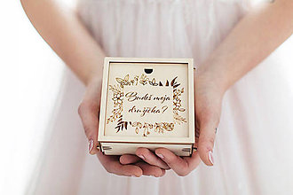 "Drobnosti - Krabička pre družičku ,,Budeš moja družička?"" - 10752160_"