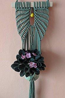 Dekorácie - Závesná dekorácia na kvetináč - 10753574_