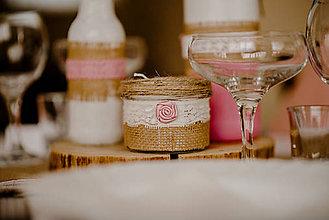 Dekorácie - Svadobný ( dekoratívny) set - 10754390_