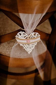 Darčeky pre svadobčanov - Dekoratívne srdiečko - 10754448_