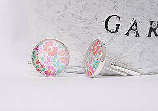 Šperky - manžetové gombíky s ľudovým motívom - 10752801_