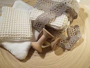 Úžitkový textil - Odličovacie vankúšiky - pampúšiky farba ECRU - 10754018_