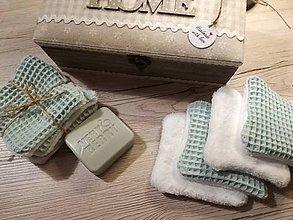 Úžitkový textil - Odličovacie vankúšiky - pampúšiky farba MENTOL - 10754067_