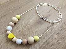 "Detské doplnky - Náhrdelník (nielen) na kojenie ""Yellow Fellow"" - 10752971_"