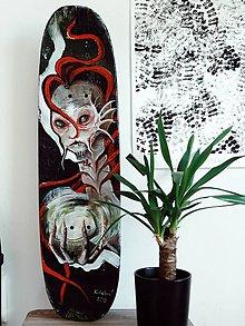 Obrazy - Pisces and her little soul - skateboard - 10753390_