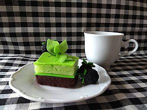 Hračky - Šitý mätovy koláčik s černicami - 10751884_