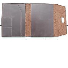 Iné doplnky - Kožený obal na diár lux - 10754814_