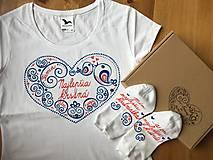 Tričká - Maľované tričko a ponožky pre najlepšiu krstnú - 10751955_