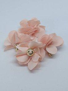 Polotovary - Textilné kvety - pár (Lososová) - 10753537_