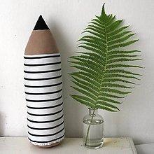 Úžitkový textil - Ceruzka pásik, s priemerom 15cm - 10753883_