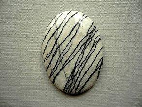 Minerály - Kabošon - jaspis písmenkový 43 mm, č.2f - 10753717_