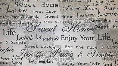 Textil - Home sweet home bavlna š.140cm - 10752701_