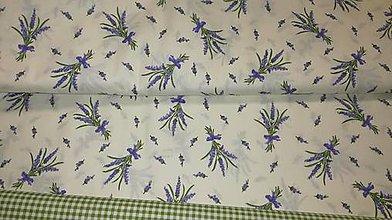 Textil - Levanduľa na bielom podklade š.140 cm - 10752721_