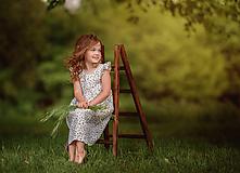 Detské oblečenie - Ľanové šatôčky Nela - 10754402_