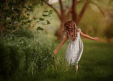 Detské oblečenie - Ľanové šatôčky Nela - 10754403_
