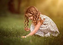 Detské oblečenie - Ľanové šatôčky Nela - 10754404_