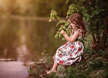 Detské oblečenie - Ľanové šatôčky Izabela - 10754469_