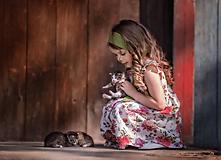 Detské oblečenie - Ľanové šatôčky Izabela - 10754472_