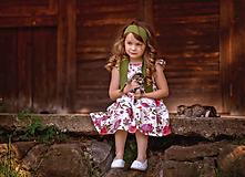 Detské oblečenie - Ľanové šatôčky Izabela - 10754473_