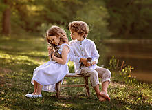 Detské oblečenie - Ľanová košeľa pre malých fešákov - 10754681_