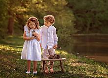 Detské oblečenie - Ľanová košeľa pre malých fešákov - 10754683_