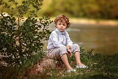 Detské oblečenie - Ľanová košeľa pre malých fešákov - 10754685_