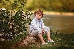 Detské oblečenie - Ľanové chlapčenské nohavice - 10754745_
