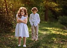 Detské oblečenie - Ľanové chlapčenské nohavice - 10754746_