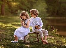 Detské oblečenie - Ľanové chlapčenské nohavice - 10754747_