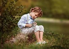 Detské oblečenie - Ľanové chlapčenské nohavice - 10754748_