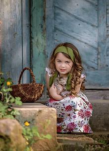Detské oblečenie - Ľanové šatôčky Izabela - 10754468_