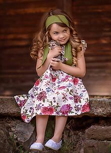 Detské oblečenie - Ľanové šatôčky Izabela - 10754476_