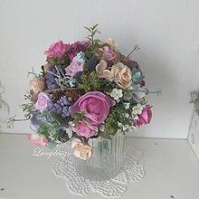 Kytice pre nevestu - kytička lila - 10754613_