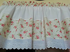 Úžitkový textil - záclonka růžičková - 10755485_