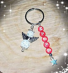 Iné šperky - Prívesok alebo klucenka na kluče alebo tašku cena  anjeliky z kryštálu - 10757528_
