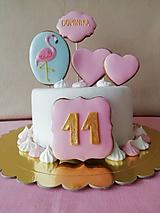 Dekorácie - Medovnikove komponenty na tortu. - 10757743_