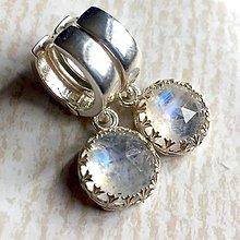 Náušnice - Filigree AA Faceted Moonstone Earrings AG925 / Strieborné náušnice s AA mesačným kameňom - 10755807_