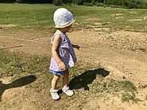 Detské čiapky - Háčkovaný letný klobúčik - 10757707_