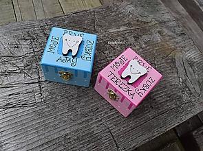 Krabičky - krabička na vypadnuté prvé zúbky - 10755741_