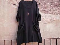 Šaty - Černé,mušelínové šaty - 10757190_