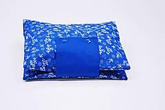 Detské doplnky - Organizér na plienky modrý folk - 10755578_