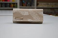 Peňaženky - Priehradková peňaženka Luluna AquaFly Pearl Sand - 10756672_