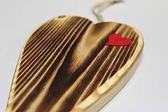 Dekorácie - Srdiečko z lásky (Do dvoch dlaní) - 10756446_