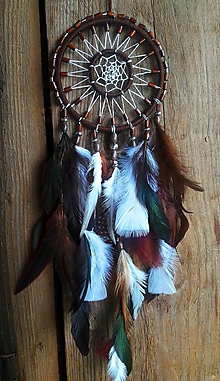 Dekorácie - Lapač snov Indiánske Slnko - 10757164_