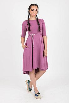 Šaty - Zľava 10% MIESTNE ŠATY KLASIK (MAUVE) - 10757157_