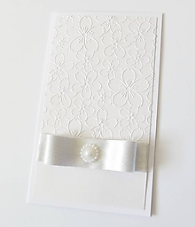Papiernictvo - darčekový obal / pohľadnica svadobná - 10755264_