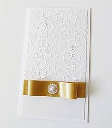 Papiernictvo - darčekový obal / pohľadnica svadobná - 10755268_