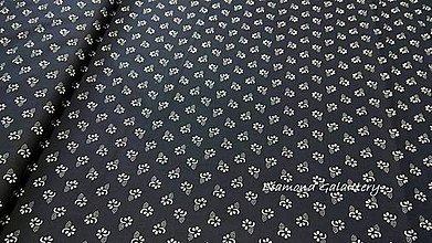 45c42570de2f Textil - Bavlnená látka - Kvietky malé na čiernom - cena za 10 cm -  10758032